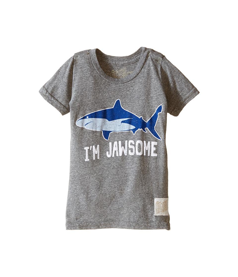 The Original Retro Brand Kids - I'm Jawsome Shark Short Sleeve Tri-Blend Tee