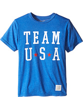 The Original Retro Brand Kids - Team USA Short Sleeve Heather Tee (Little Kids/Big Kids)