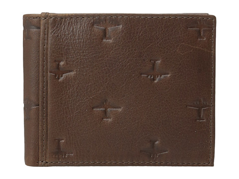 Fossil Pilot Bifold with Flip Id - Brown