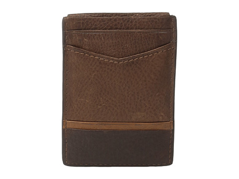 Fossil Ian Magnetic Card Case - Brown