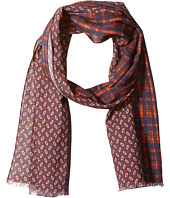 Scotch & Soda - Scarf with All-Over Printed Mix & Match Patterns