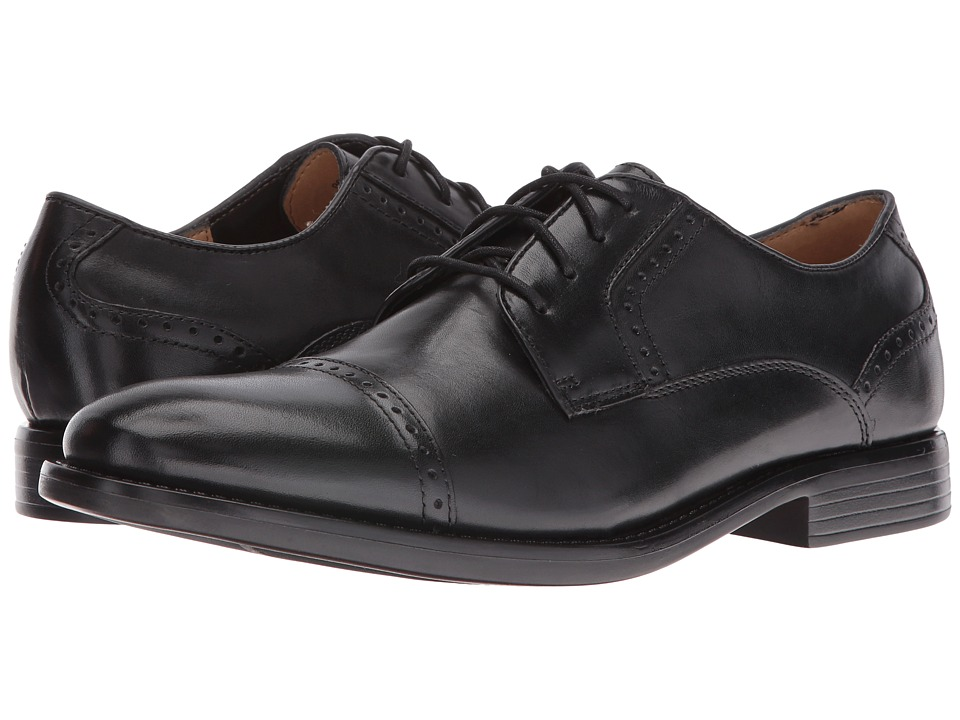 Dockers Hawley Cap Toe Oxford (Black Polished Full Grain) Men