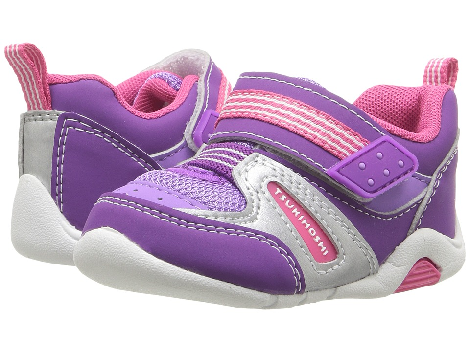 Tsukihoshi Kids - Neko (Toddler) (Purple/Berry) Girls Shoes