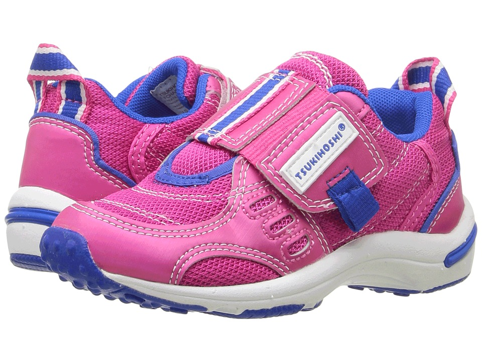 Tsukihoshi Kids - Euro (Toddler/Little Kid) (Fuchsia/Blue) Girls Shoes