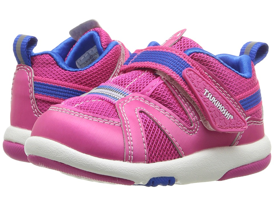 Tsukihoshi Kids - Maru (Toddler) (Fuchsia/Blue) Girls Shoes