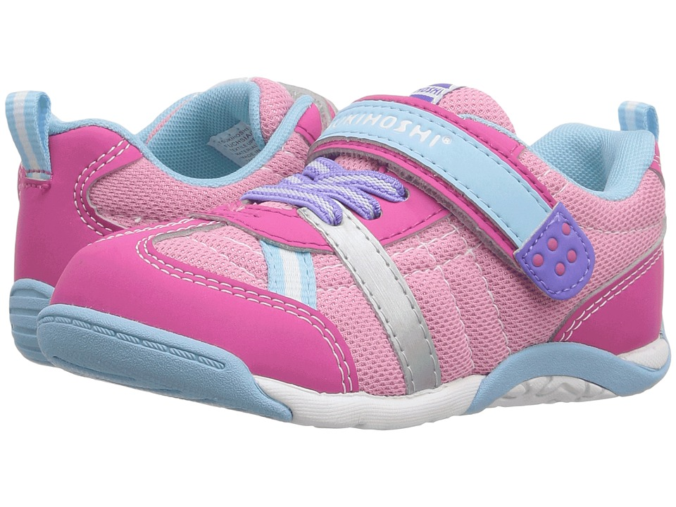 Tsukihoshi Kids - Kaz (Toddler/Little Kid) (Fuchsia/Light Blue) Girls Shoes