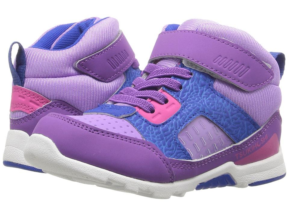 Tsukihoshi Kids Replay (Toddler/Little Kid) (Purple/Lavender) Girl's Shoes