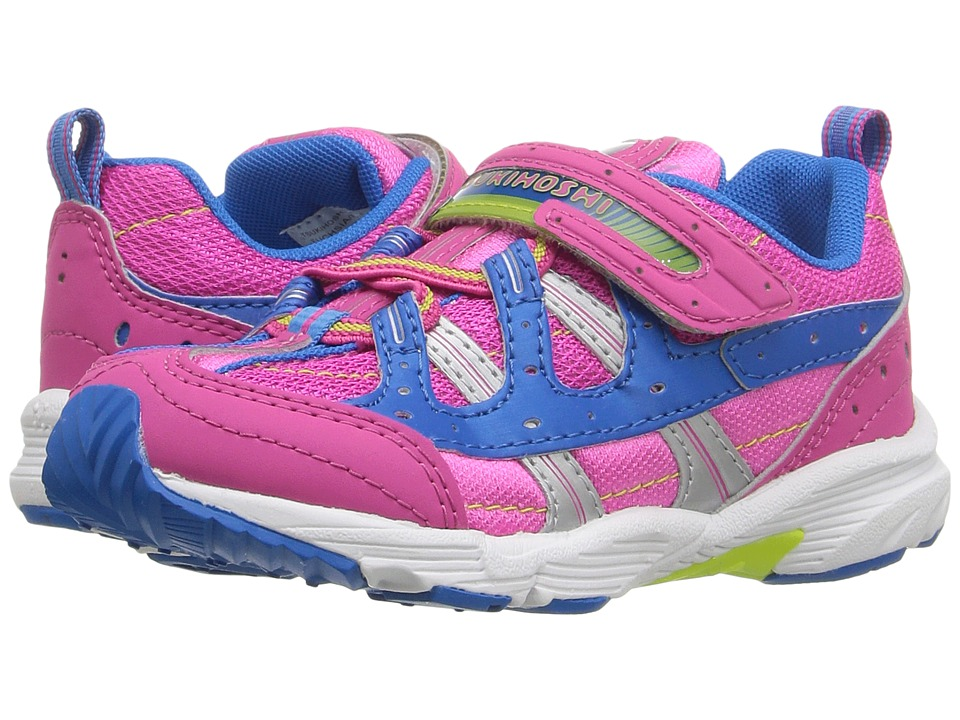 Tsukihoshi Kids - Speed (Toddler/Little Kid) (Fuchsia/Royal) Girls Shoes