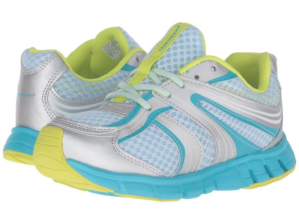 Tsukihoshi Kids Dash (Toddler/Little Kid) (Silver/Light Blue) Girls Shoes