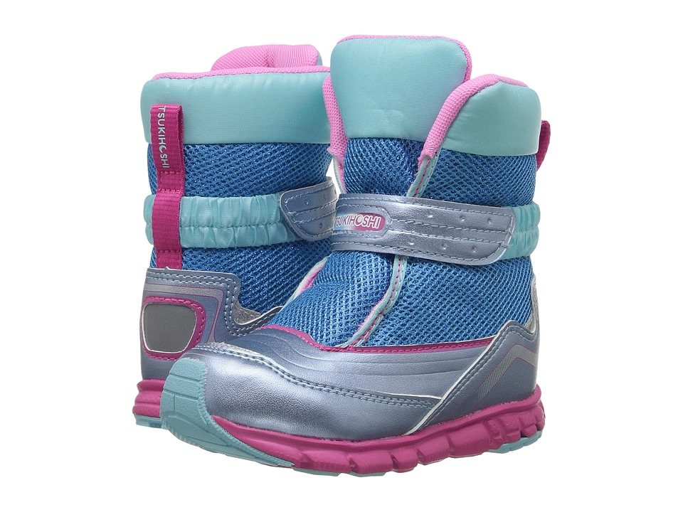 Tsukihoshi Kids Frost (Toddler/Little Kid) (Ice/Pink) Girl's Shoes