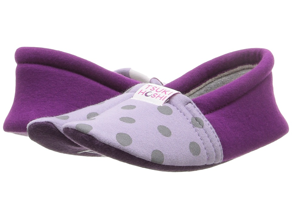 Tsukihoshi Kids - Ninja (Toddler/Little Kid/Big Kid) (Lavender Dots) Girls Shoes