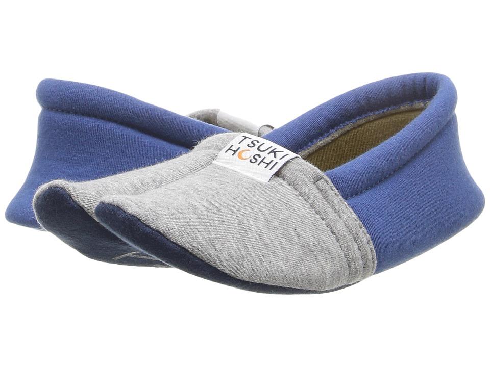 Tsukihoshi Kids Ninja (Toddler/Little Kid/Big Kid) (Gray/Blue) Boys Shoes