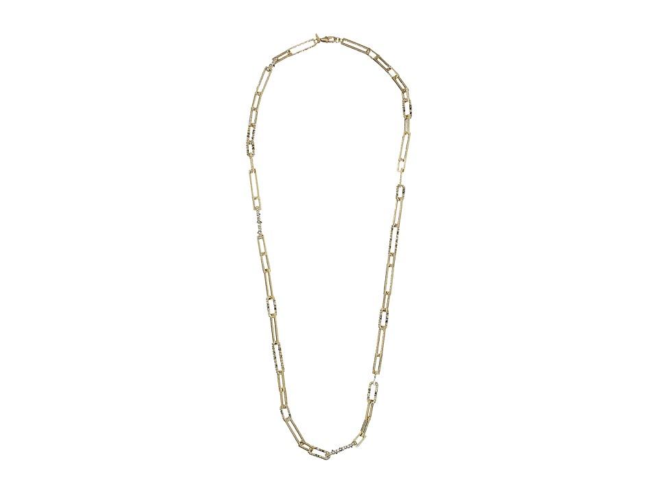 Alexis Bittar Crystal Encrusted Link Strand Necklace (10K...