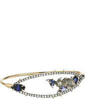 Alexis Bittar - Crystal Encrusted Spike Accented Gemstone Cluster Tension Bangle Bracelet
