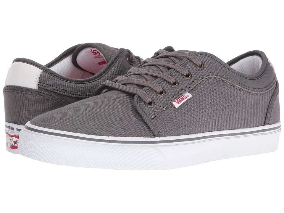 Vans - Chukka Low (Pewter/White/Red) Mens Skate Shoes