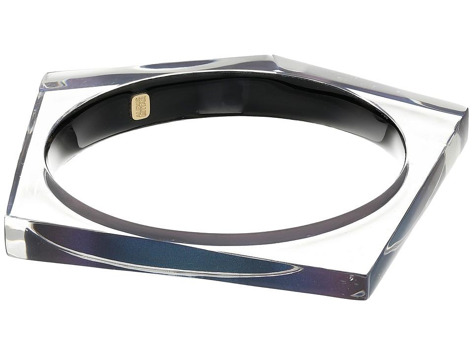 Image of Alexis Bittar - Asymmetrical Pentagon Bangle Bracelet (Blue Velvet) Bracelet