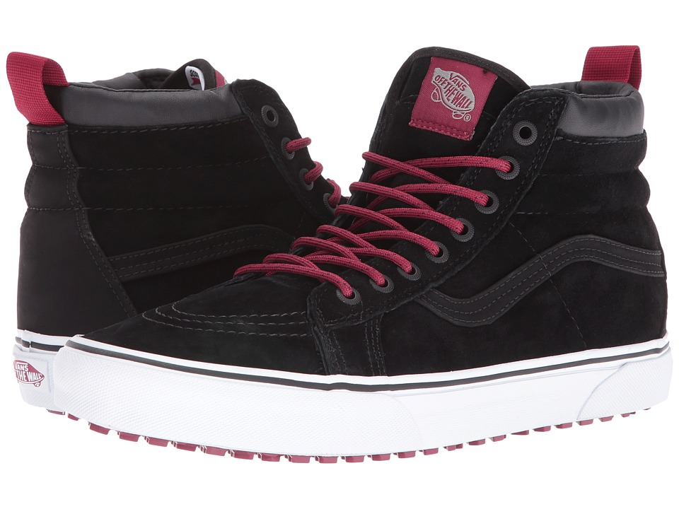 Vans - SK8-Hi MTE ((MTE) Black/Beet Red) Skate Shoes