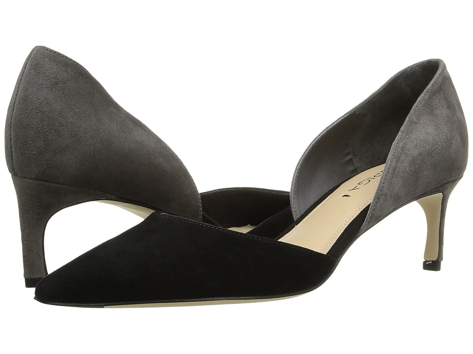 Via Spiga - Ava (Black/Ash Kid Suede Leather) Women