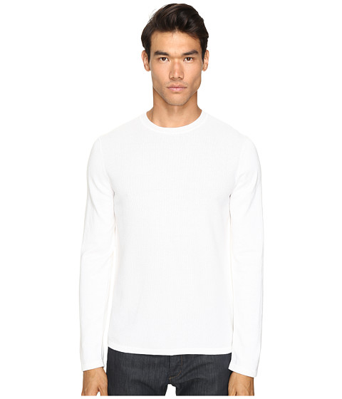 Vince Jersey Mix-Stitch Long Sleeve Crew