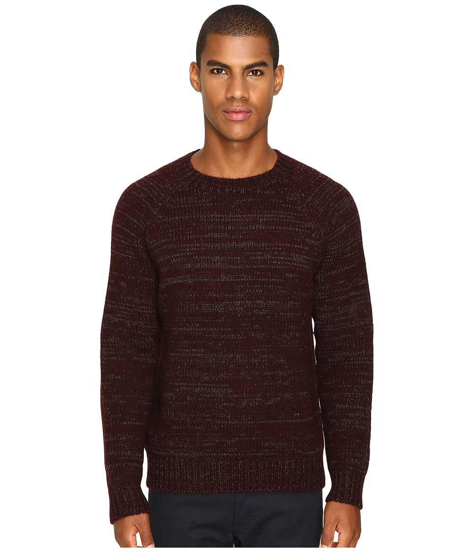 Vince Yak Wool Marl Crew (Oxblood) Men