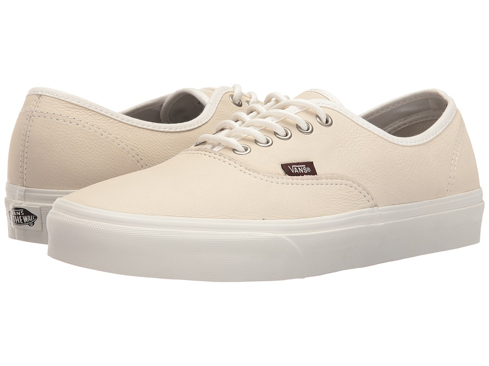 Vans Authentic ((Leather) Blanc De Blanc/Potting Soil) Skate Shoes