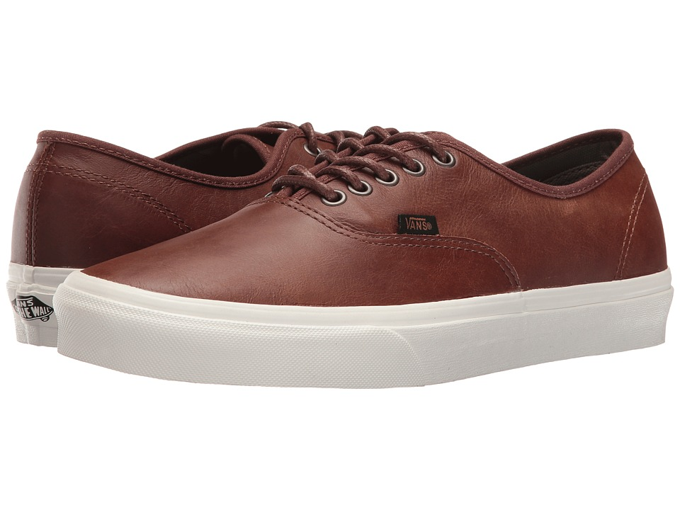 Vans Authentic ((Leather) Dachshund/Potting Soil) Skate Shoes