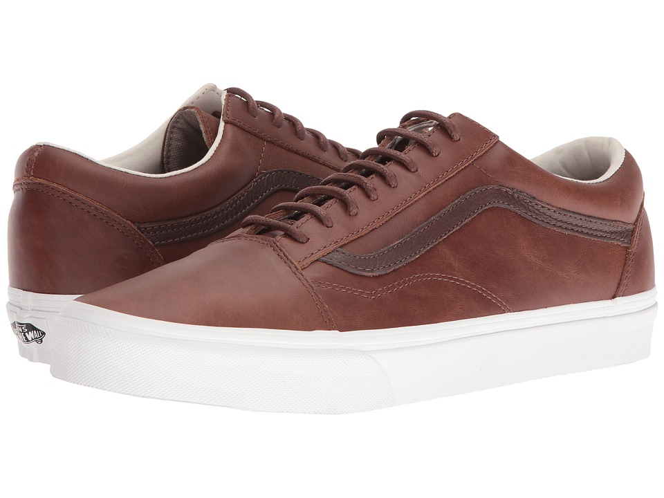 Vans Old Skool ((Leather) Dachshund/Potting Soil) Skate Shoes