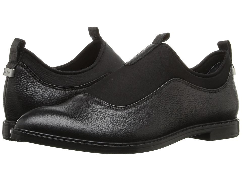 Calvin Klein - Damira (Black Leather/Neoprene) Women