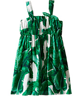 Dolce & Gabbana Kids - Botanical Garden Banana Print Flared Dress (Toddler/Little Kids)
