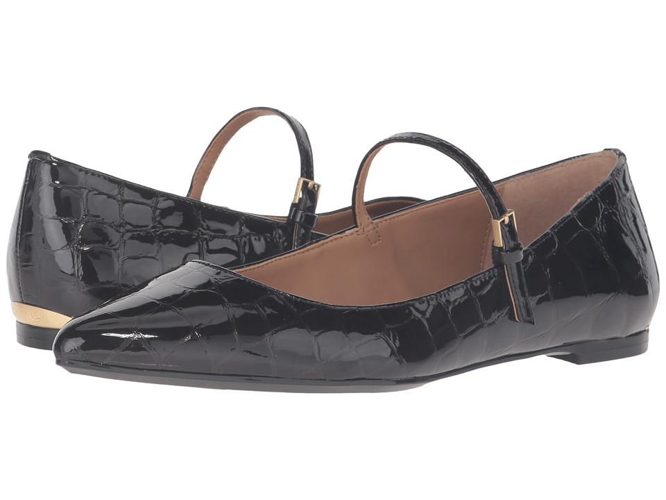 Calvin Klein - Gracy (Black Croco Print Patent) Women