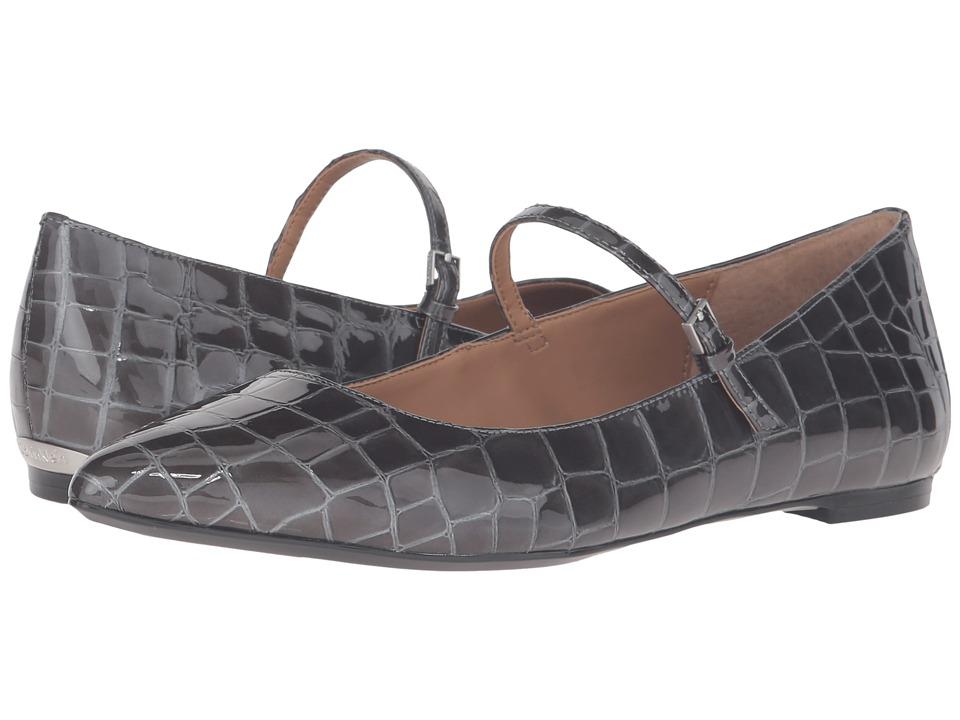 Calvin Klein - Gracy (Shadow Grey Croco Print Patent) Women