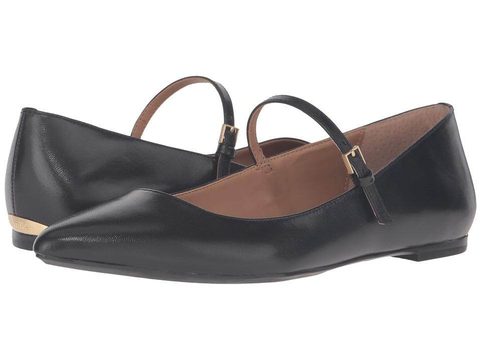 1920s Style Shoes Calvin Klein - Gracy Black LeatherPatent Womens Shoes $99.00 AT vintagedancer.com