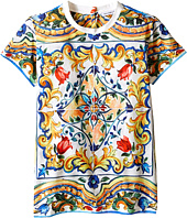 Dolce & Gabbana Kids - Escape Maiolica T-Shirt (Big Kids)