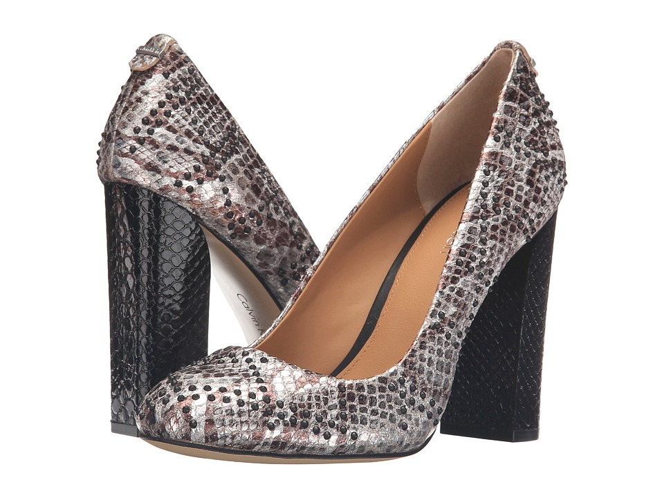 Calvin Klein - Junie (Silver Foiled Snake Print Leather) Women