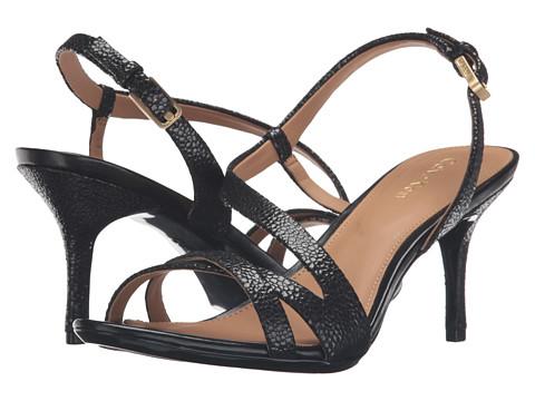 Calvin Klein Lorren - Black Pearlized Stingray Print Leather