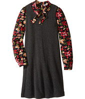 Dolce & Gabbana Kids - Back to School Long Sleeve A-Line Dress (Big Kids)