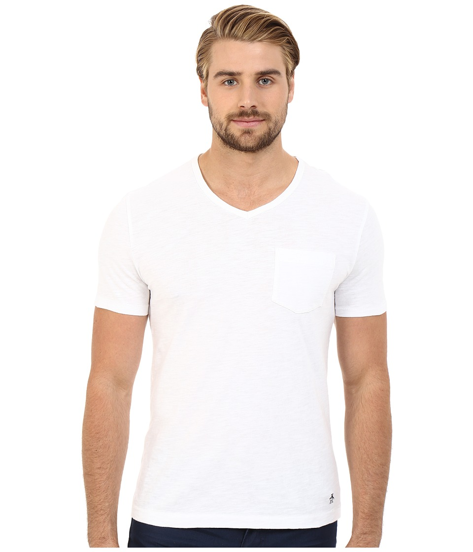 Original Penguin Bing V Neck Bright White Mens T Shirt