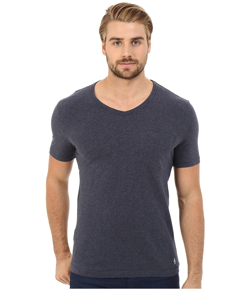 Original Penguin Bing V Neck Dark Sapphire Mens T Shirt