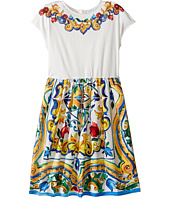 Dolce & Gabbana Kids - Escape Maiolica Flared Dress (Big Kids)