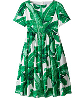 Dolce & Gabbana Kids - Botanical Garden Banana Leaf Dress (Big Kids)