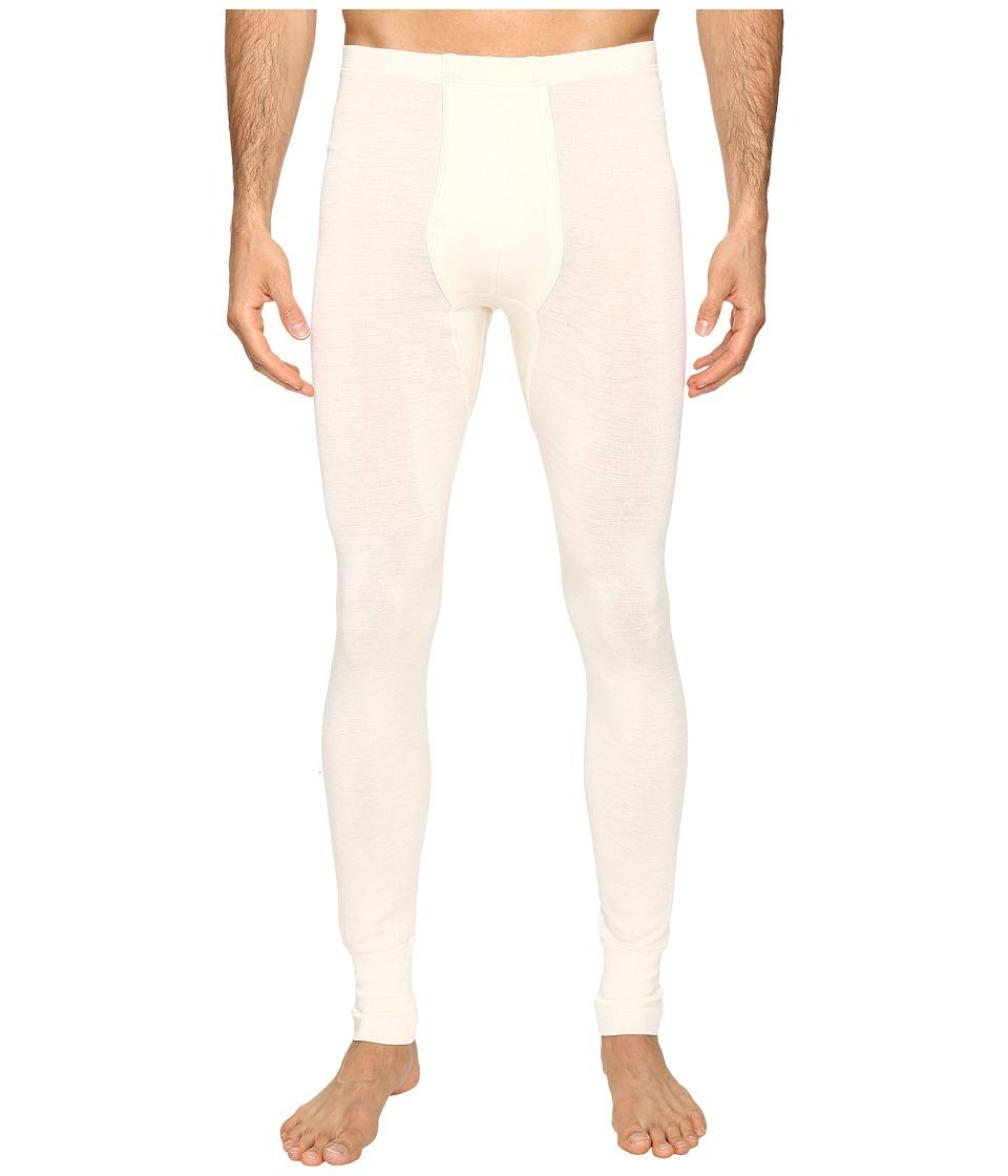 Hanro Woolen Silk Long Underwear (Cygne) Men's Underwear
