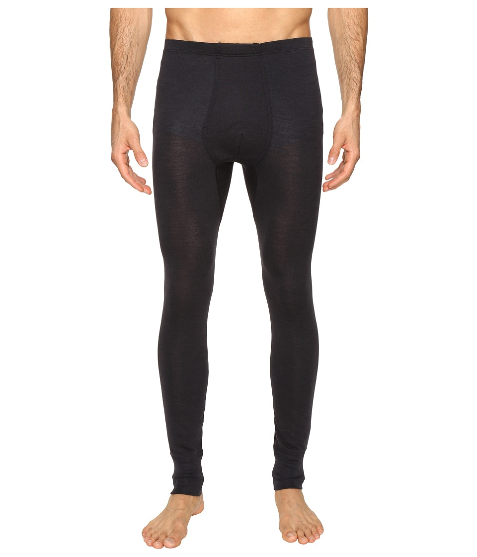 Hanro Woolen Silk Long Underwear (Anthracite) Men