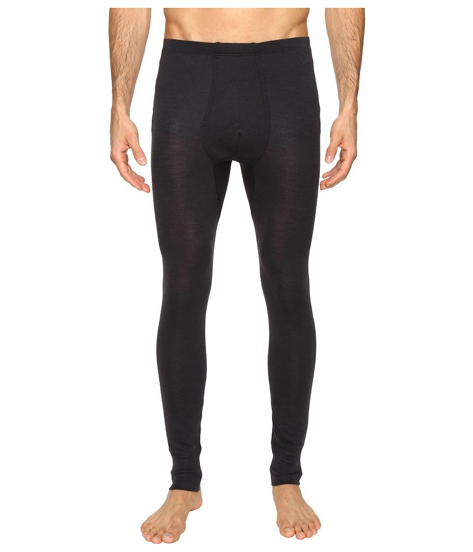 Hanro Woolen Silk Long Underwear (Anthracite) Men's Under...