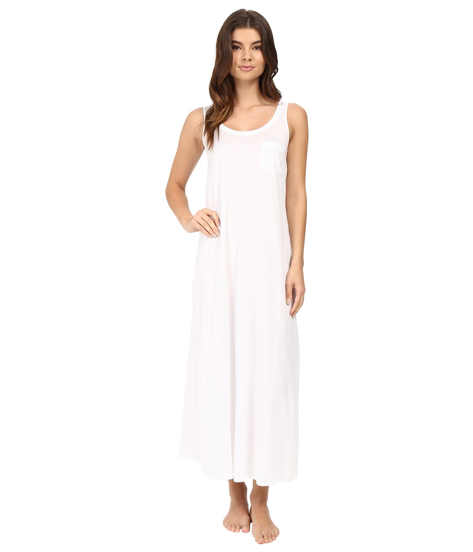 Hanro Cotton Deluxe Long Tank Nightgown (White) Women's P...