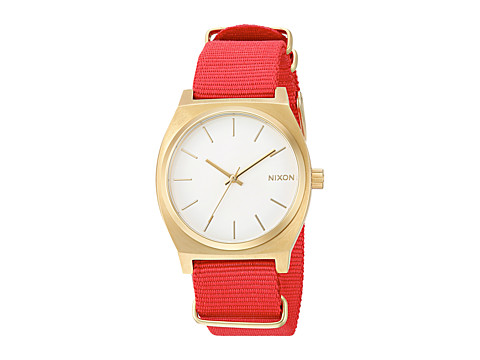 Nixon The Time Teller X Nato Collection - Gold/White/Red