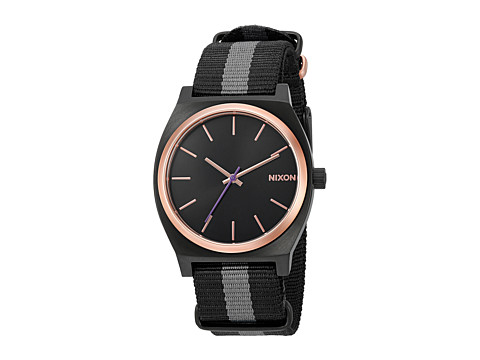 Nixon The Time Teller X Nato Collection - Black/Rose Gold/Charcoal