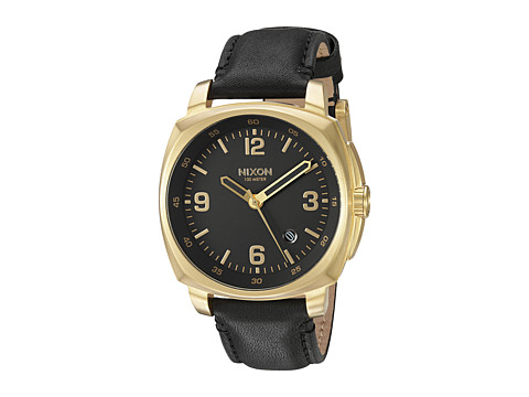 Nixon Charger Leather - Gold/Black