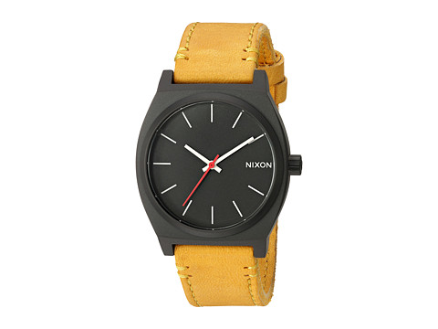 Nixon Time Teller X Mountain Dweller Collection - All Black/Goldenrod