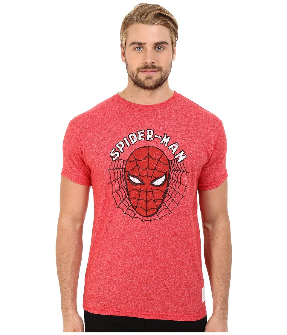 The Original Retro Brand Spiderman Mock Twist Short Sleeve Tee Mock Twist Red Mens T Shirt