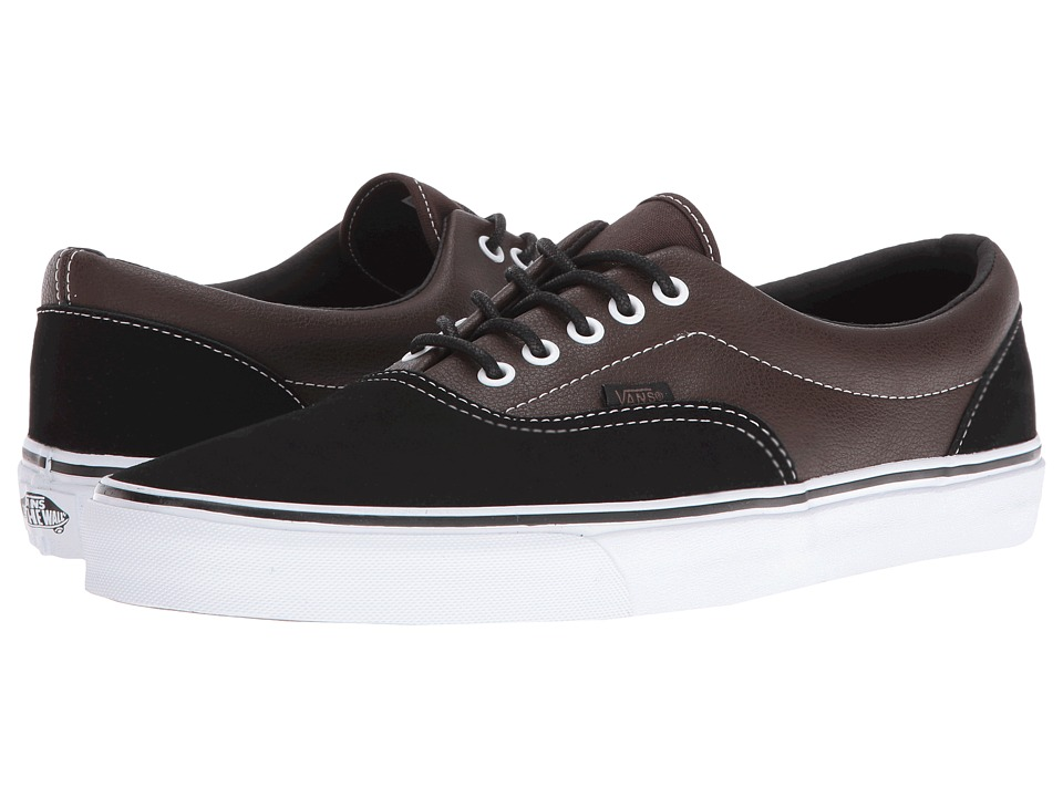 Vans Era ((Suede + Leather) Demitasse/Black) Skate Shoes
